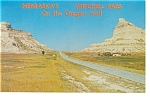 Mitchell Pass, Nebraska, Oregon Trail Postcard