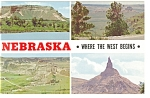 Views of Scotts Bluff National Monument ,NE, Postcard