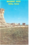 Click here to enlarge image and see more about item p7821: Monument Rocks Near Oakley KS Postcard p7821