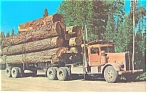 Click here to enlarge image and see more about item p7823: Logging Truck with Paul Bunyan's Toothpicks  Postcard