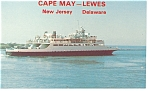Cape May NJ  Lewes DE Ferry  Postcard p7836