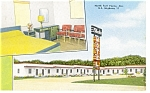 Click here to enlarge image and see more about item p7858: North Fort Payne, AL, Block's Motel Postcard