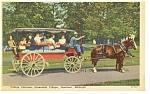 Click here to enlarge image and see more about item p7884: Dearborn, MI Greenfield Village Carriage, Linen Pcard