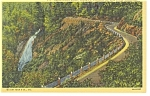 Click here to enlarge image and see more about item p7885: Appalachian Highway Blue Ridge Mountains Linen Postcard p7885