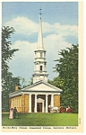 Click here to enlarge image and see more about item p7886: Dearborn MI Greenfield Village Chapel Linen Postcard p7886