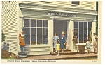 Click here to enlarge image and see more about item p7887: Dearborn MI Greenfield Village Store Linen Postcard p7887