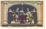 Click here to enlarge image and see more about item p7889: Dearborn MI Greenfield Gog and Magog Linen Postcard p7889