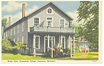 Click here to enlarge image and see more about item p7890: Dearborn MI Greenfield Menlo Park Linen Postcard p7890