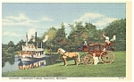 Click here to enlarge image and see more about item p7892: Dearborn MI Greenfield Suwanee Boat Linen Postcard p7892