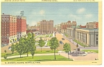 Nashville TN Memorial Square Linen Postcard p7674