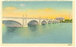 Click here to enlarge image and see more about item p7911: Washington DCArlington Memorial Bridge Linen Postcard p7911