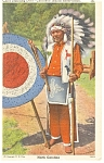 Click here to enlarge image and see more about item p7919: Cherokee Chief Standing Deer  NC Postcard p7919