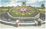 Click here to enlarge image and see more about item p7921: Ontario Hydro Floral Clock Niagara Falls Postcard p7921