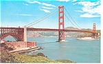 San Francisco CA Golden Gate Bridge Postcard p7929