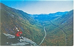 Click here to enlarge image and see more about item p7960: Crawford Notch NH from Mt Willard Postcard