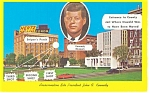 Click here to enlarge image and see more about item p7967: Dallas TX JFK Assassination Site Postcard p7967