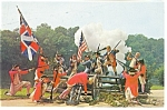 Click here to enlarge image and see more about item p8018: Revolutionary War Battle Reenactment Postcard p8018