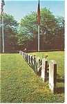 Click here to enlarge image and see more about item p8026: Appomattox Court House VA Cemetery Postcard p8026