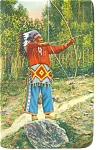 Click here to enlarge image and see more about item p8034: Cherokee Indian Chief Standing Deer Postcard
