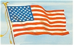 Click here to enlarge image and see more about item p8055: 50 Star American Flag  Postcard p8055