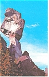 Click here to enlarge image and see more about item p8073: Alaska Highway, Teetering Rock Postcard