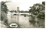 Click here to enlarge image and see more about item p8142: Wareham, England Bridge and River Real Photo Postcard