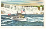 Click here to enlarge image and see more about item p8163: Maid of the Mist, Niagara Falls Linen Postcard 1951