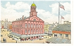 Boston, MA Faneuil Hall Postcard 1932