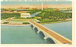 Washington,DC, Lincoln Memorial and Bridge Postcard