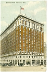Columbus, OH The Deshier Hotel Postcard 1917