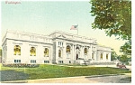 Click here to enlarge image and see more about item p8264: Washington, DC, Carnegie Library Postcard 1916