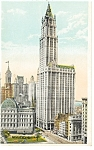 New York City Woolworth Building Postcard p8296