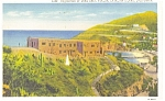 Click here to enlarge image and see more about item p8321: Catalina Island CA Home of Zane Grey Linen Postcard p8321