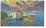 Click here to enlarge image and see more about item p8323: Catalina Island,CA, Casino Postcard 1936