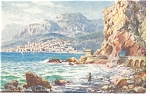 Click here to enlarge image and see more about item p8329: Menton, France, Tuck Oilette Postcard