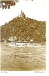 Click here to enlarge image and see more about item p8339: Castle Marksburg on the Rhine Germany Postcard p8339