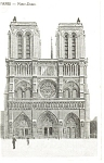 Paris,France, Norte Dame Postcard