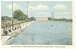 Click here to enlarge image and see more about item p8349: Sunnyside Beach,Toronto Swimming Pool Postcard