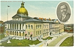 Boston MA State Capitol Governor Foss  Postcard p8373 1911