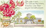 Columbus OH State Capitol State Flower Postcard p8374