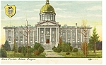 Salem Oregon State Capitol Postcard p8377