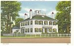 Click here to enlarge image and see more about item p8381: Cape Cod MA Old House with Widow s Wal Postcard p8381