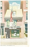 Click here to enlarge image and see more about item p8391: Philadelphia PA Betsy Ross House Postcard p8391