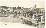 Saint Cloud France Le Pont et l Eglise Postcard p8422