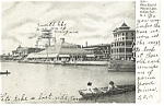 Click here to enlarge image and see more about item p8439: Wesley Lake Asbury Park NJ, Postcard p8439 1907