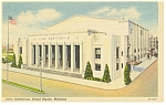 Civic Auditorium, Grand Rapids, MI Linen Postcard