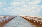Tampa Bay Florida Twin Gandy Bridges Postcard p8470