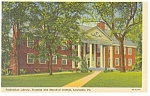 Franklin and Marshal College Lancaster PA Postcard p8496