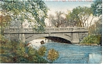 Click here to enlarge image and see more about item p8564: Stone Bridge, Garfield Park, Chicago, IL Postcard