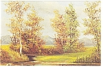 Morris Katz Artwork Autumn Leaves Postcard p8593